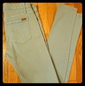 Robin egg blue skinny jeans